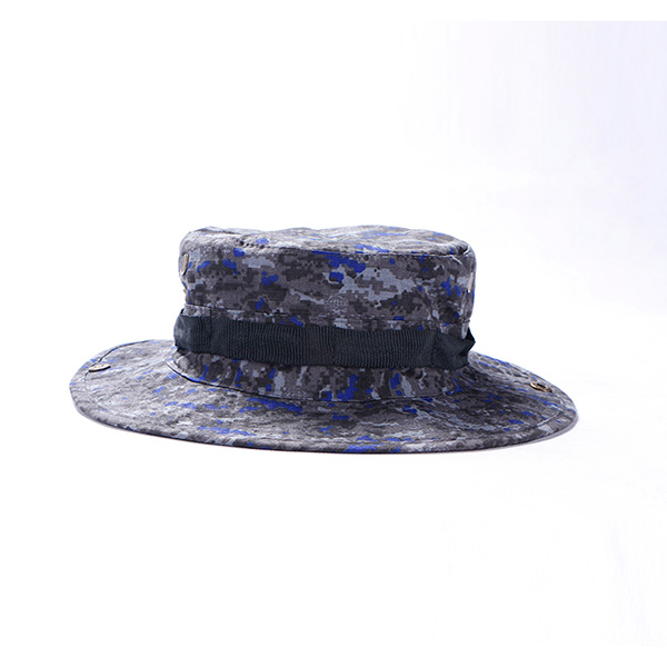 Navy Digital Camo Boonie Hat Casual Printed , Military Style Bucket Hats