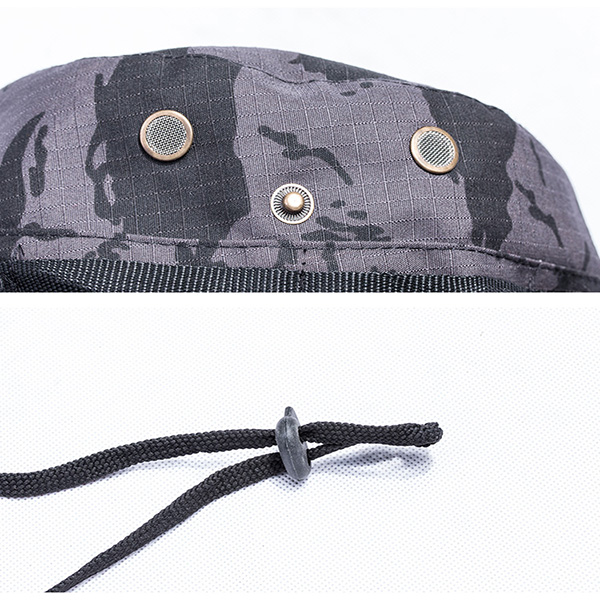 Wide Brim Military Style Boonie Hat , Outdoor Woodland Tactical Giggle Hat