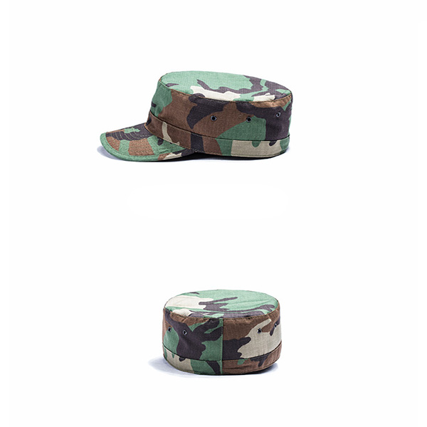 Army Woodland Camo Tactical Hat , Tactical Trucker Hat Round Edge For Outside