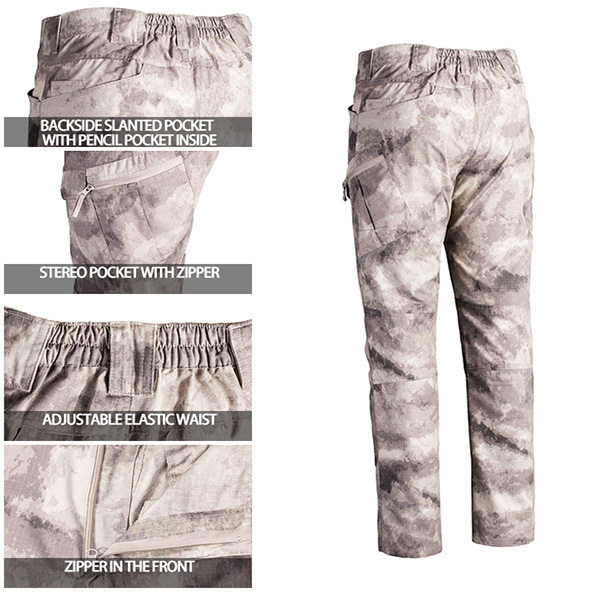 Army Tactical Combat Pants With Invisible Back Small Pockets For Outdoor Sports