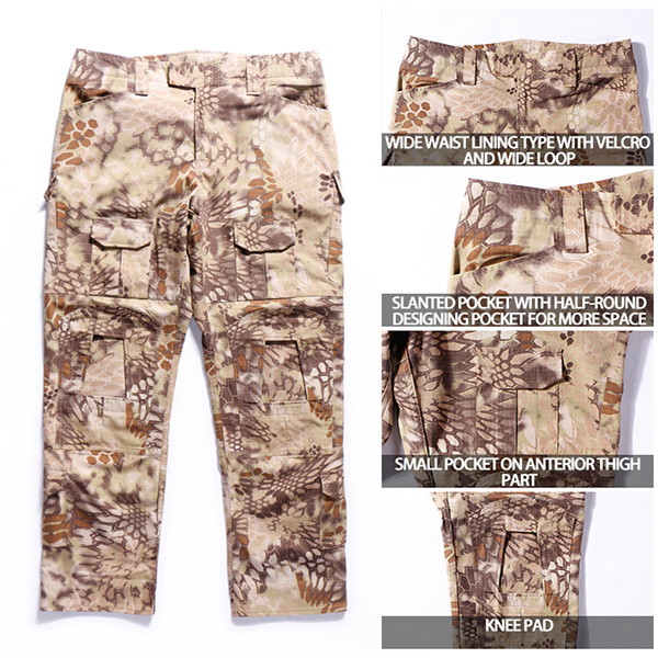 Highlander Military Tactical Pants With Slanted Back Pocket , Police Tactical Pants
