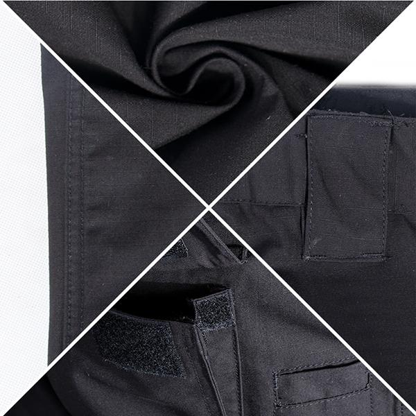 Comfortable Black Tactical Dress Pants With Function Pockets For Outdoor Duty