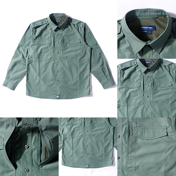 Olive Green Military Style Shirts For Police Department / Army Scratch Resistant