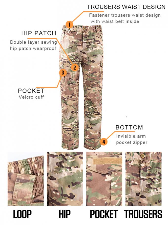 CP Color Camouflage Military Combat Uniform Design Your Own Lengths And Sizes