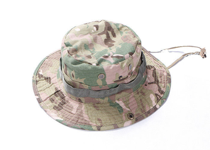 Army Camouflage Multicam Tactical Boonie Hat For Camping With Stability  Strap c3bec7d73ea7