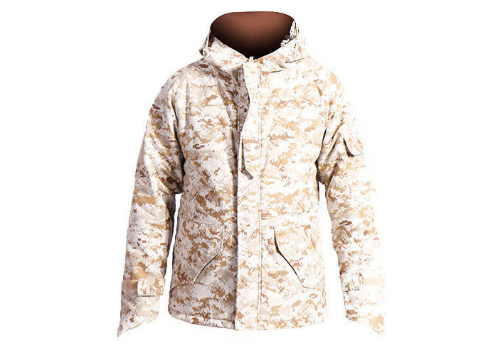 Men's Desert Military Tactical Jackets For Outside Hunting Lamination Treatment