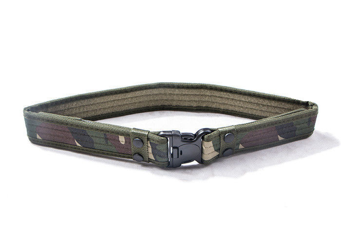Woodland Military Web Belt Scratch Resistant Waterproof , Tactical Battle Belt