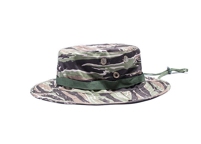 Army Woodland Camo Boonie Hat With String  d019446c1049