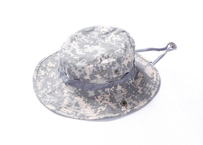 Military Army Tactical Cap / Boonie Hat Ventilated Wide Brim For Outside Duty