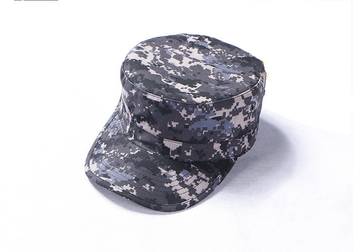 Digital Camo Army Tactical Cap With Arc Shaped Cap Brim , Multicam Fitted Baseball Cap