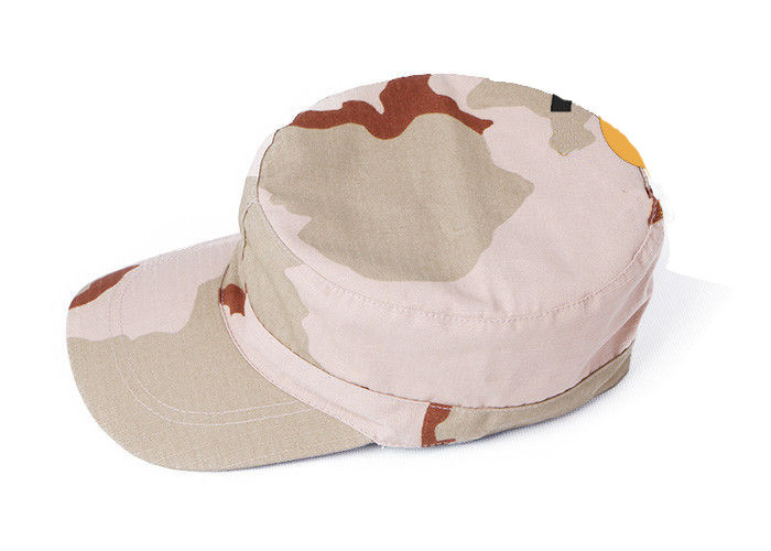 3 Color Desert Army Tactical Cap Round Edge With Double Fabric Stitching