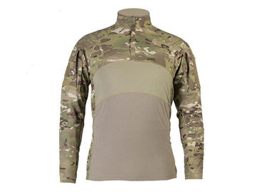 China Men's Tactical Military Combat Slim Fit T Shirt Long Sleeve with Zipper,Frog Combat Shirt factory