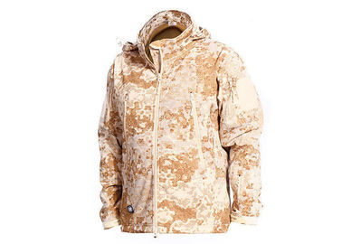 China Windproof Desert Tactical Softshell Jacket , Military Style Coat For Outdoor Sports factory