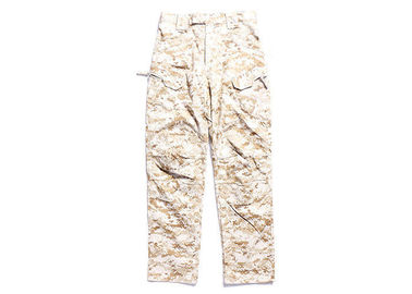China Relaxed Fit Tactical Combat Pants / Desert Camo Trousers With Function Pocket For Duty distributor