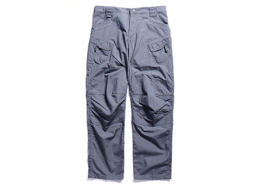 China Blue Tactical Combat Pants Military Grade Double Layer Oblique Cutting Pockets factory