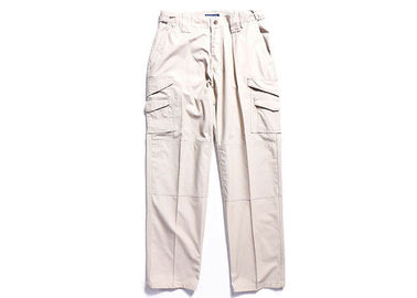 China Khaki Tactical Combat Pants with Extra Deep Front Pockets / Adjustable Side Tab factory