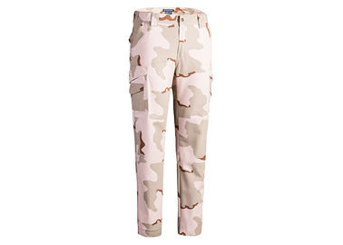 China 3 Color Desert Camo Printed Military Tactical Pants With Internal Knee Pockets factory