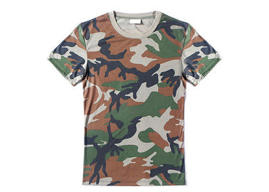 China Woodland Army Military Police T Shirts With 100%Polyester Bamboo Material factory