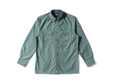 China Olive Green Military Style Shirts For Police Department / Army Scratch Resistant distributor