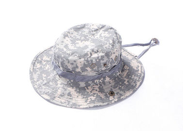 China Military Army Tactical Cap / Boonie Hat Ventilated Wide Brim For Outside Duty factory