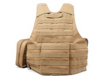 China Security Khaki Military Tactical Vest Left Handed For Law Enforcement / Police / Army distributor