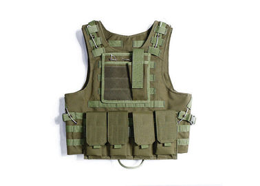 China Military Combat Load Bearing Vest Double Sewing Line With Adjustable Waist distributor