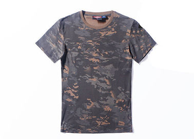 China Night Multi Camo Tactical T Shirts 100% Cotton Short Sleeve O Neck OEM factory