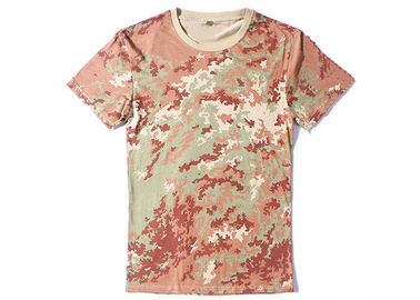China 100% Cotton Camouflage Camo Air Force T Shirts , Police Department T Shirts factory