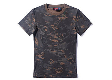 China Multi Camo Tactical T Shirts Short Sleeve Anti Wrinkle , Military Morale T Shirts factory