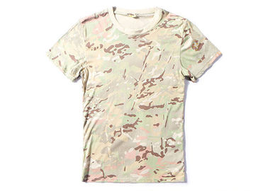 China Summer Sports Army T Shirts For Mens Quik Dry , Army Commando T Shirt factory