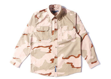 China 3 Color Desert Combat Tactical Shirt , Woodland Digital Law Enforcement Shirts factory