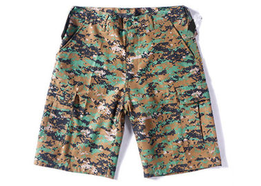 China Digital Woodland Tactical Cargo Shorts Stitching Line Edge With Bar - Tacks distributor