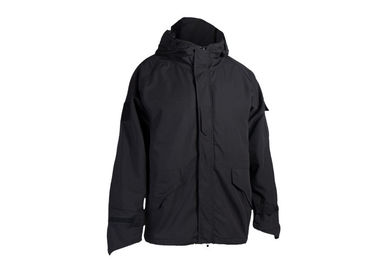 China Black Color Tactical Winter Jacket 65% Ppolyester 35% Softshell Jacket And Waterproof Jacket distributor