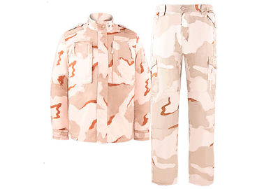 China Ripstop / Twill 3- Desert Color Military Combat Uniform Camouflage SGS factory